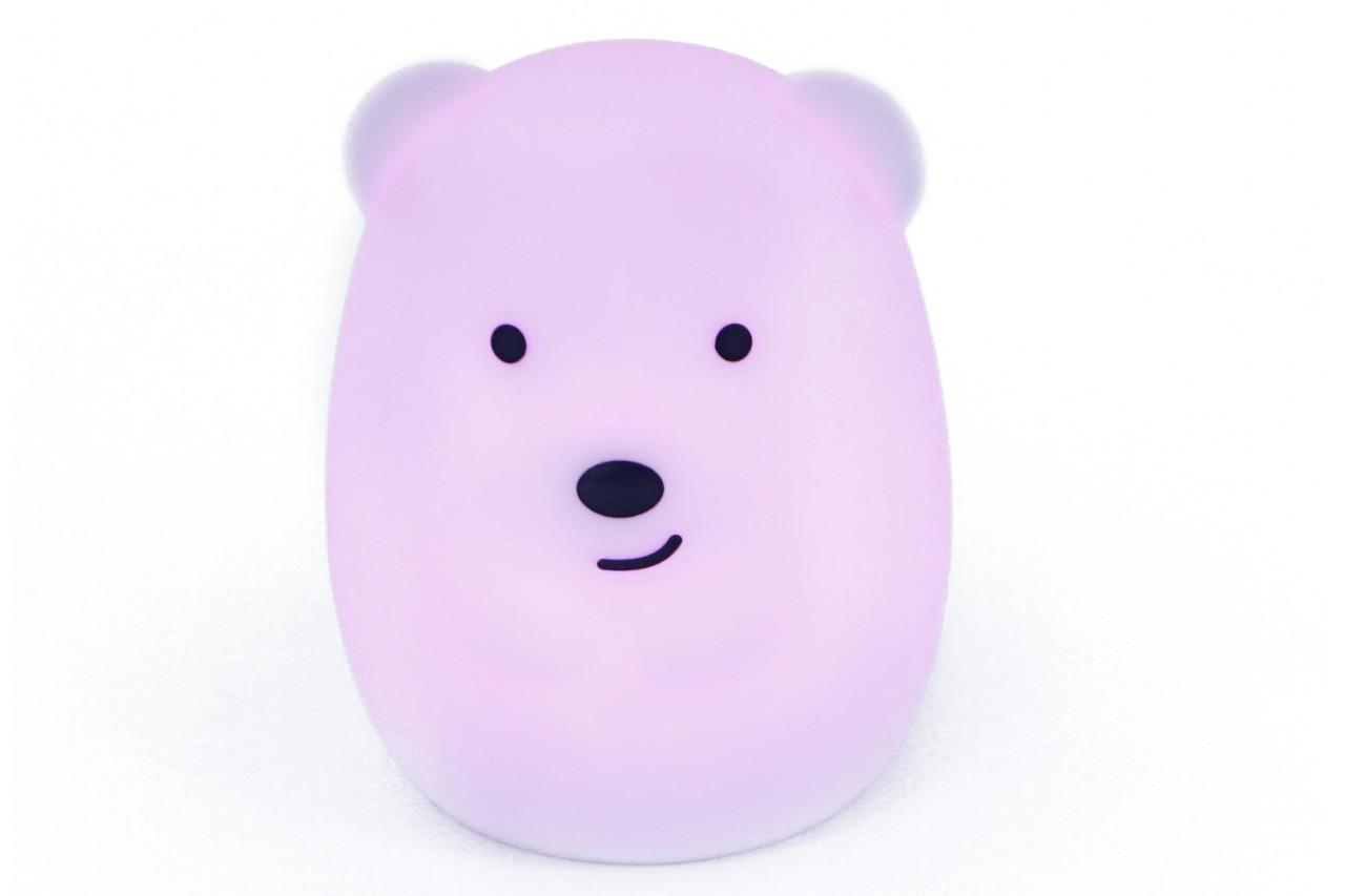 Ночник светильник силиконовый детский ТМ Click Медведь 8 см