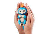 Ручная обезьянка на бат. Happy Monkey интерактивная (синий), фото 2