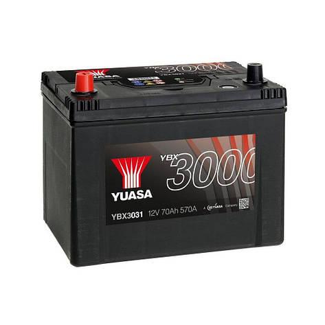 Yuasa 6СТ-70 Аз YBX3031 Автомобильный аккумулятор, фото 2
