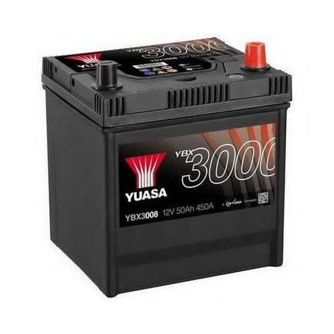Yuasa 6СТ-50 АзЕ YBX3008 Автомобильный аккумулятор, фото 2