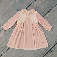 Детское велюровые платье для девочки на 80 рост, ТМ Smil