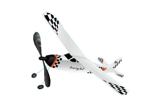 Самолет резиномоторный ZT Model Knight 395мм