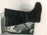 Кожаные женские сапоги зимние на широкую ногу тм. Ross, фото 1