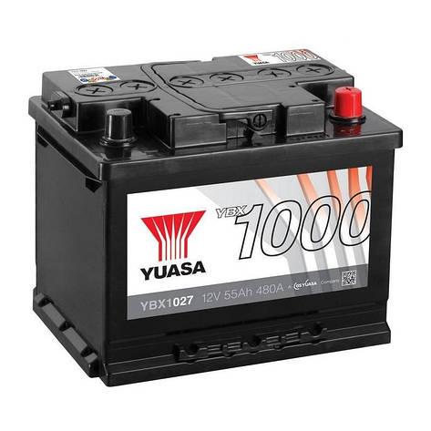 Yuasa 6СТ-55 АзЕ YBX1027 Автомобильный аккумулятор, фото 2