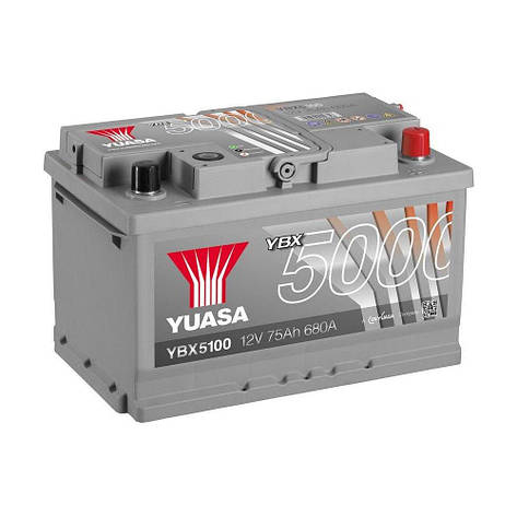 Yuasa 6СТ-75 АзЕ YBX5100 Автомобильный аккумулятор, фото 2