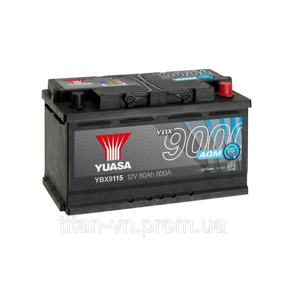 Yuasa 6СТ-80 АзЕ AGM YBX9115 Автомобильный аккумулятор