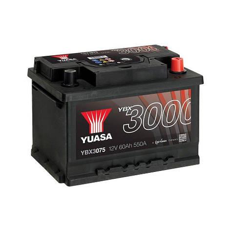 Yuasa 6СТ-60 АзЕ YBX3075 Автомобильный аккумулятор, фото 2