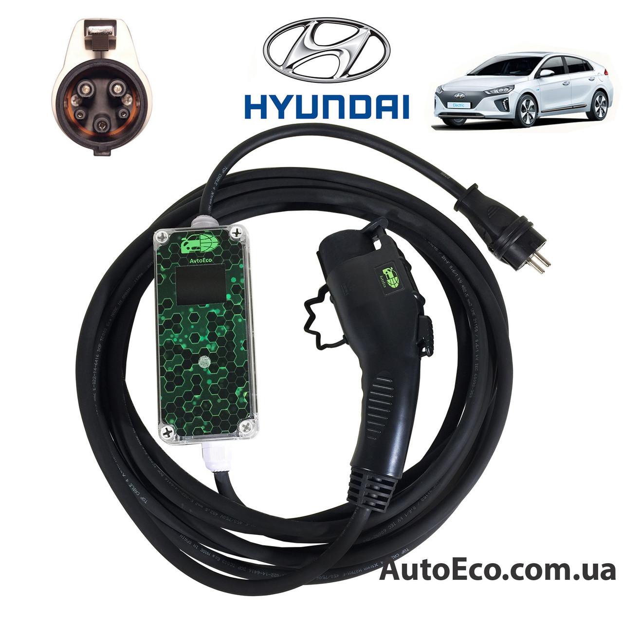 Зарядное устройство для электромобиля Hyundai IONIQ Electric AutoEco J1772-16A-Wi-Fi