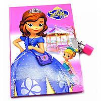 Дневник с замком (19х13х2 см) Принцесса и девочка