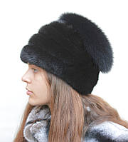Женская норковая шапка Виолетта, фото 1