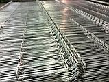 Ограждение из сварной  сетки  цинк диаметр 4/4 L 2.50м H 1.26м, фото 2
