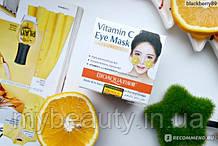 Маска - патчі для шкіри навколо очей з екстрактом апельсина і зеленого чаю Bioaqua Orange Eye Mask