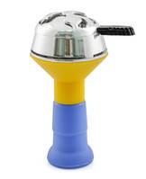 Набор силиконовая чашка Euroshisha с Kaloud Lotus (калауд копия) - желто-синяя