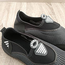 Аквашузы мужские серые черные аква обувь кроссовки носки слипоны мокасины коралки, фото 3