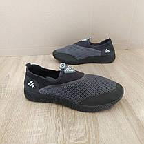 Аквашузы мужские серые черные аква обувь кроссовки носки слипоны мокасины коралки, фото 2