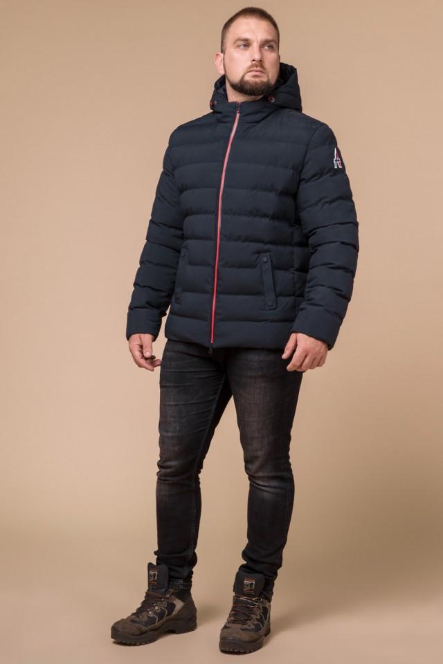 "Куртка короткая мужская зимняя цвет темно-синий-красный  Braggart ""Aggressive"" размер 46 48 50 52 54 56"