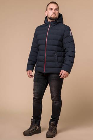 "Куртка короткая мужская зимняя цвет темно-синий-красный  Braggart ""Aggressive"" размер 46 48 50 52 54 56, фото 2"