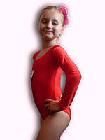 Купальник гимнастический эластик красный Rivage Line 309B