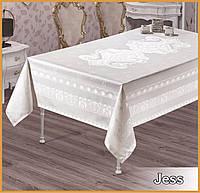 Скатерть тефлоновая  прямоугольная  Maison Royale Jess  160х220  Beyaz, Турция, фото 1