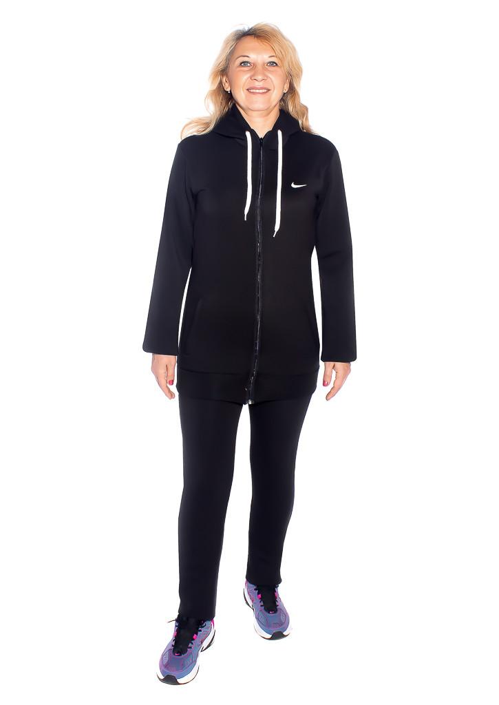 Тёплый длинный спортивный костюм для полных женщин - фото teens.ua