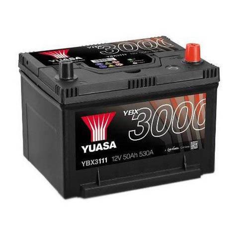 Yuasa 6СТ-50 АзЕ YBX3111 Автомобильный аккумулятор, фото 2