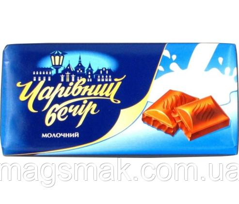 Десерт шоколадный Чарівний вечір молочный, 85г, фото 2