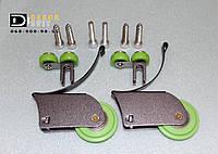 Комплект роликов на дверь Асимметричных (2верхних + 2нижних + винты)