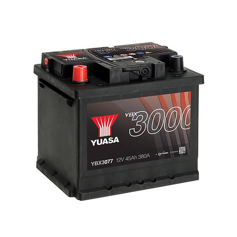 Yuasa 6СТ-45 Аз YBX3077 Автомобильный аккумулятор, фото 2