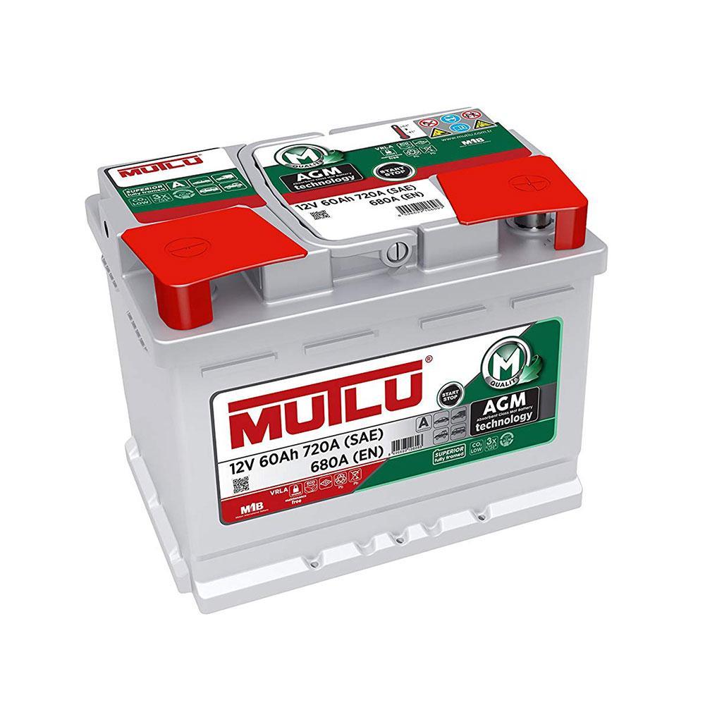MUTLU 6СТ-60 АзЕ AGM.L2.60.068.A Автомобильный аккумулятор