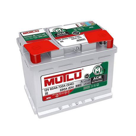 MUTLU 6СТ-60 АзЕ AGM.L2.60.068.A Автомобильный аккумулятор, фото 2