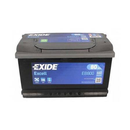 EXIDE 6СТ-80 АзЕ Excell EB800 Автомобильный аккумулятор, фото 2