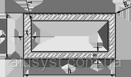 Труба 20х10х1 профильная алюминиевая  / без покрытия