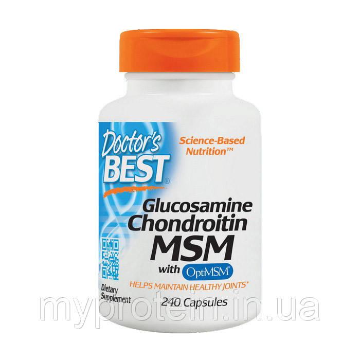 Doctor's BEST Глюкозамин Хондроитин МСМ Glucosamine Chondroitin MSM (240 caps)