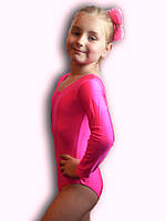 Купальник гимнастический эластик розовый Rivage Line 309B