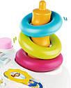 Детский игровой столик Цветочек со звуковыми и световыми эффектами бело-розовый Smoby Cotoons, фото 5