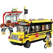 Конструктор Qman «Школьный автобус» Colorful City 440 деталей 1136