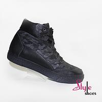 Чоловічі шкіряні черевики зі вставками