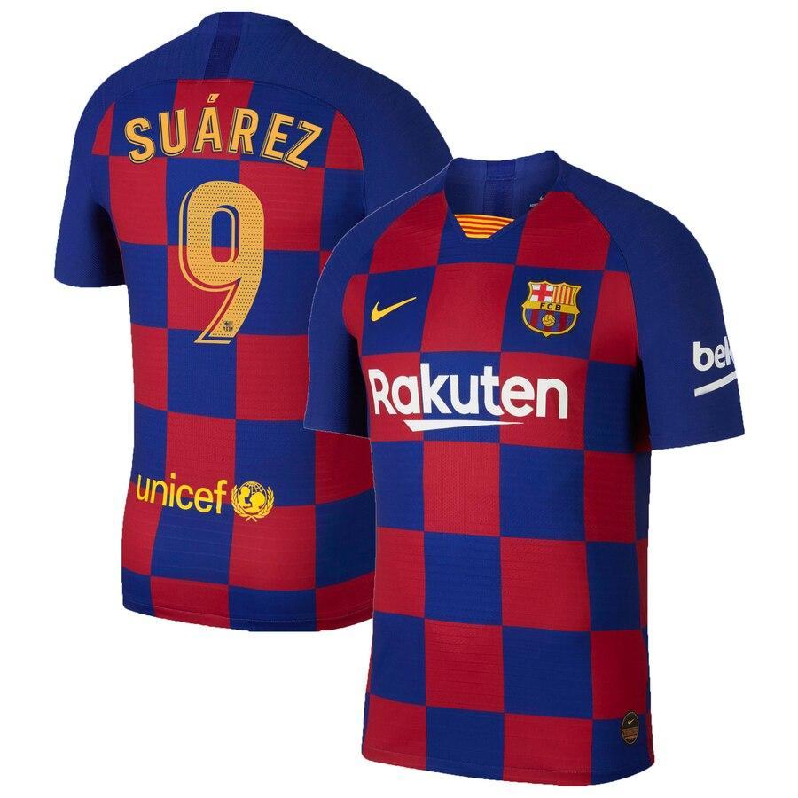 Детская футбольная форма Барселона SUAREZ 9 сезон 2019-2020 основная гранатовая