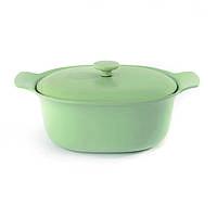 Кастрюля чугунная RON, светло-зеленая, диам. 28 см, 5 л BergHOFF