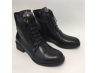 Женские зимние кожаные ботинки тм. Lonza симпатичная фурнитура, фото 1