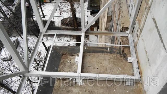 Балкон с выносом по полу в Киеве