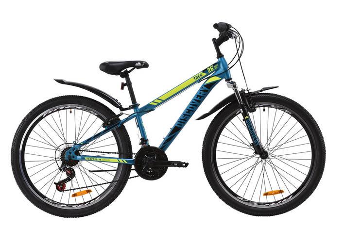 """Велосипед ST 26"""" Discovery TREK AM Vbr с крылом Pl 2020 (малахитовый с желтым (м)), фото 2"""