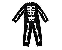 Костюм детский карнавальный СКЕЛЕТ, рост 110-120 см, черный (CC282B)