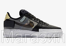 "Мужские кроссовки Nike Air Force 1 Low Type N. 354 ""Black"" CI0054-001 (Найк Аир Форс) черные, фото 3"