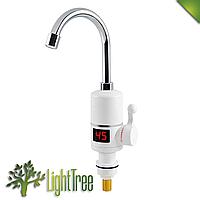 Вертикальный водонагреватель проточный на кран c LCD дисплеем UKC RX-005 3000 Вт, мгновенное нагревание воды