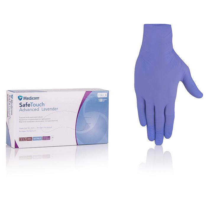 Нитриловые перчатки неопудренные Medicom SafeTouch Advanced Lavender, размер S, 100 шт