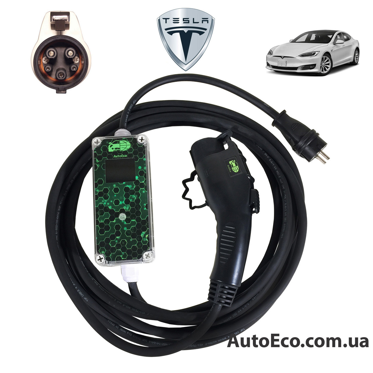 Зарядное устройство для электромобиля Tesla Model S AutoEco J1772-16A-Wi-Fi