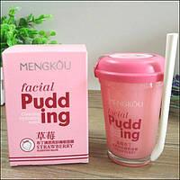 Маска-пудинг для лица MENGKOU Facial Pudding Strawberry Чилийская клубника 100 g