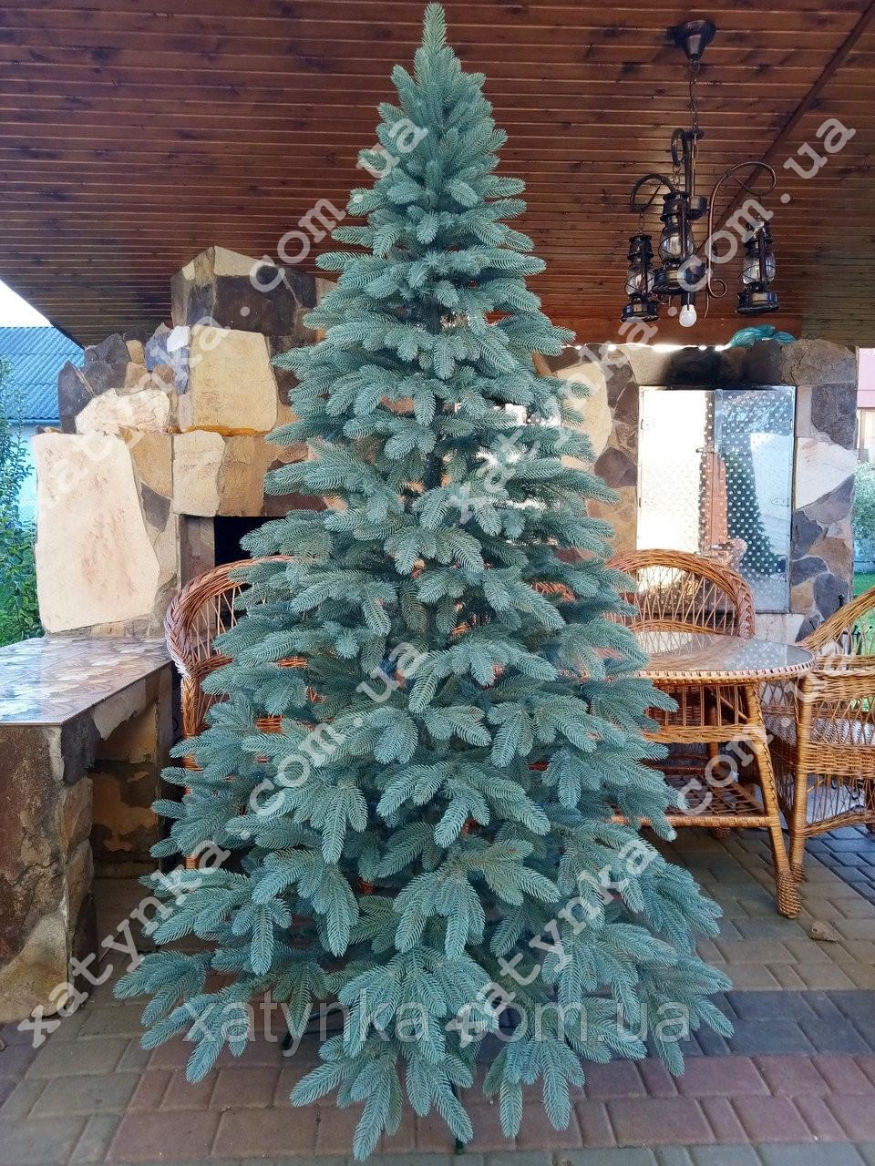 Литая елка Премиум 2.50м. голубая   / Лита ялинка / Ель / Ёлочка пластиковая / елка большая исскуственная