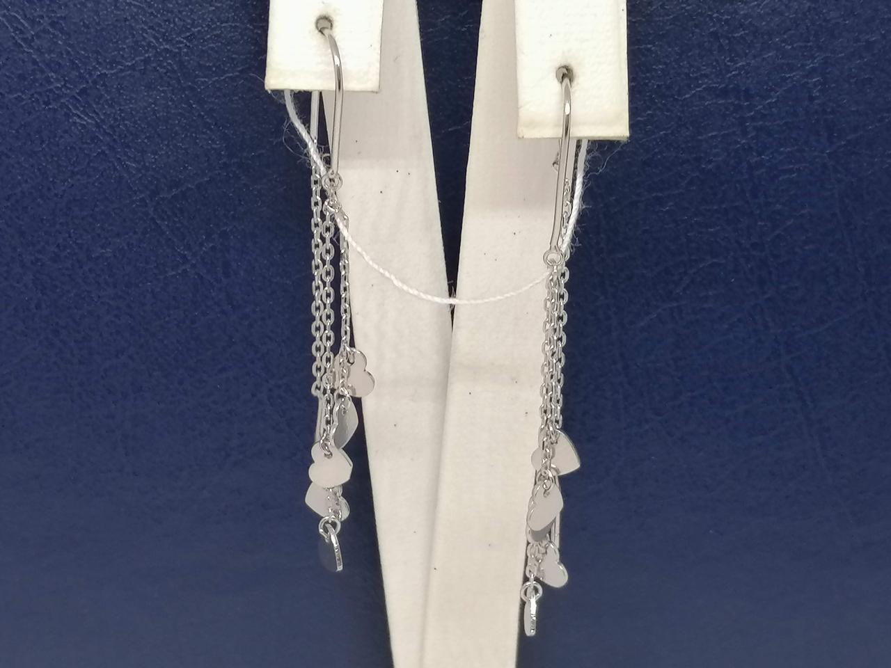 Срібні сережки-протяжки. Артикул С2/1149